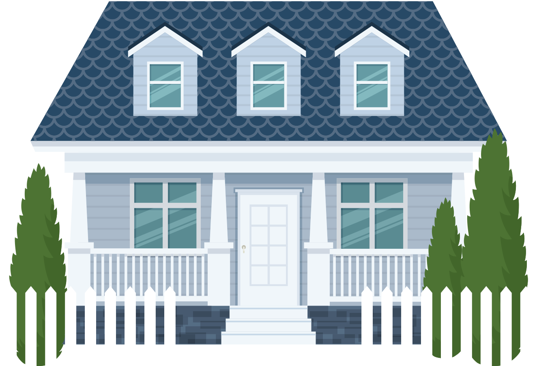 graphic neighborhood home