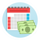 calendar with money